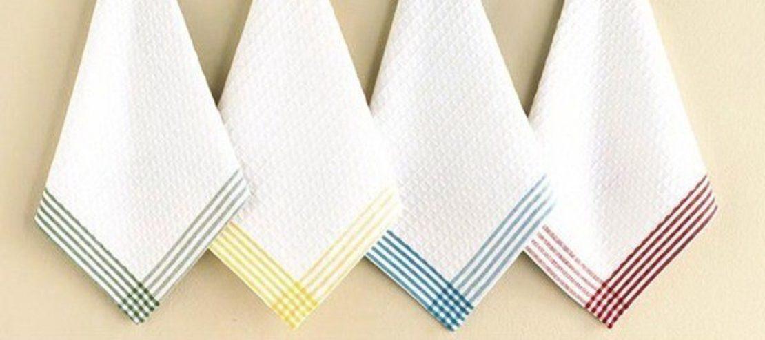 вернуть белизну кухонным полотенцам
