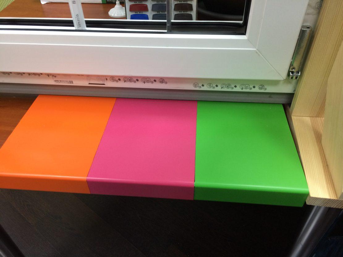 Покраска пластикового подоконника