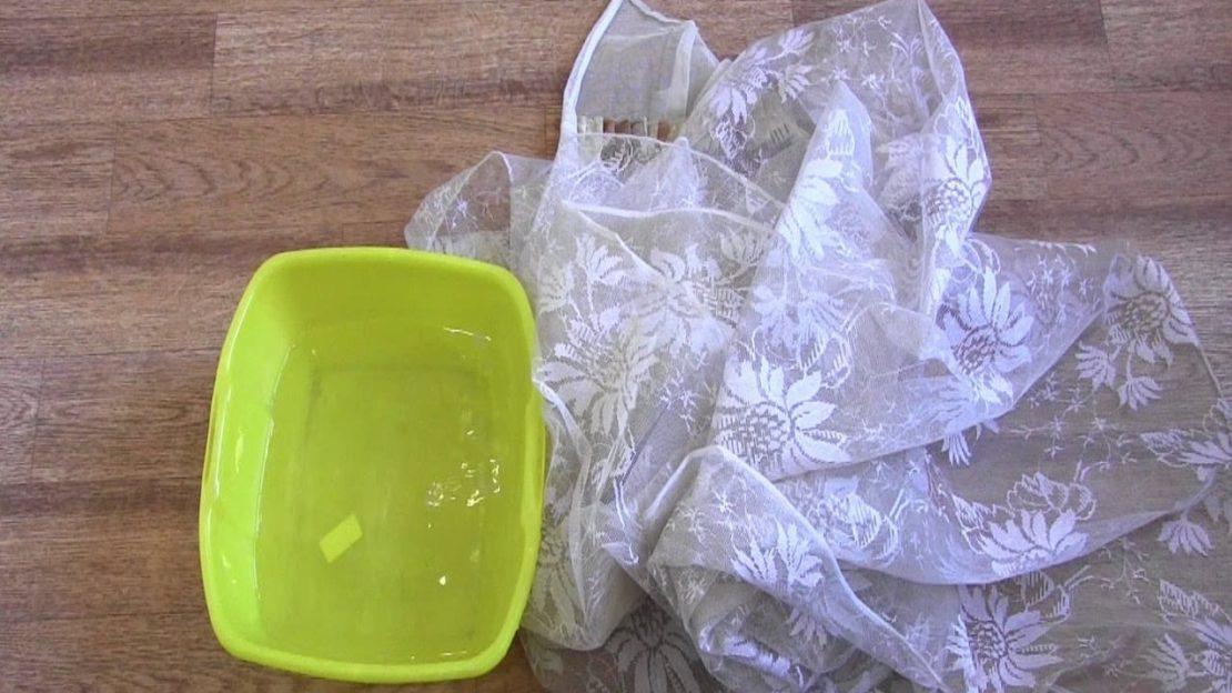 Как отбелить тюль в домашних условиях народными средствами