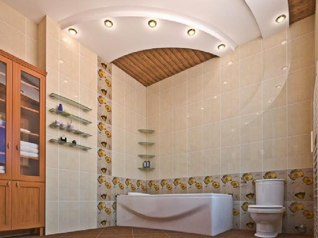 Гипсокартонный потолок в ванную комнату