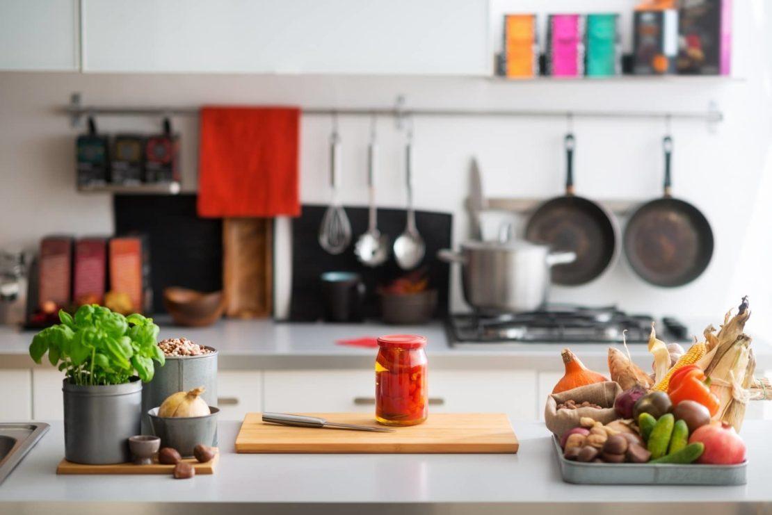 Расположение кухонной утвари