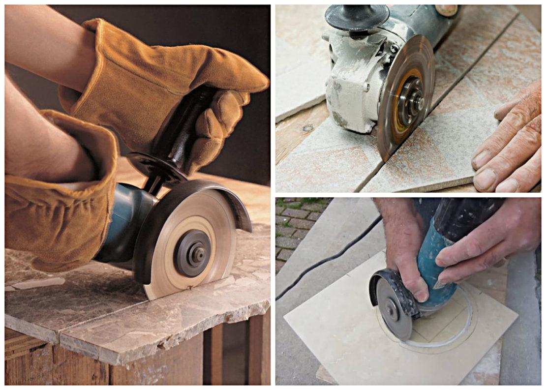 Как правильно разрезать керамическую плитку болгаркой