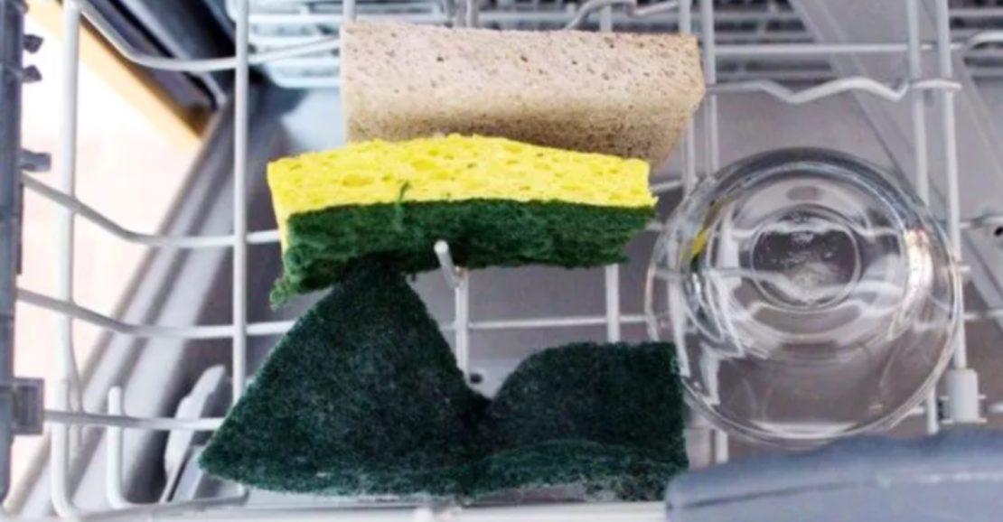 Кухонные губки можно мыть в посудомойке