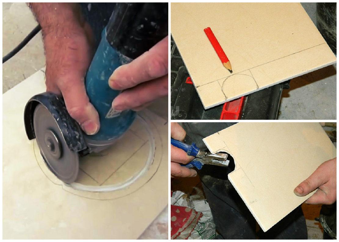Как сделать закругления в плитке