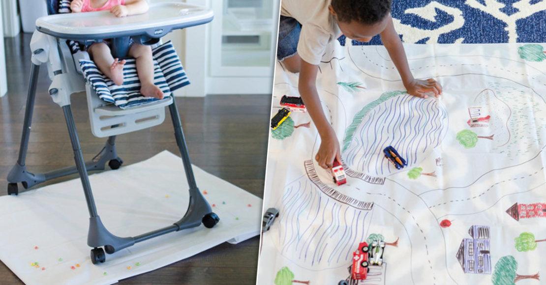 Игровой коврик и подстилка для детей из старой шторки для душа