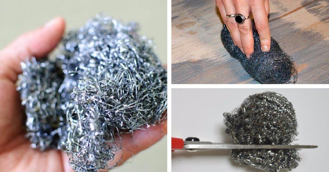 Применение металлической губки не по назначению