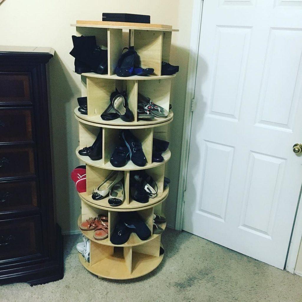 Вращающаяся тумба под обувь
