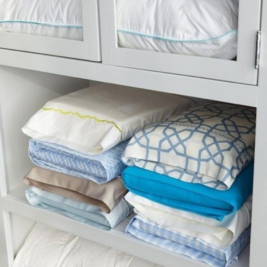 Хранение постельного белья в наволочке