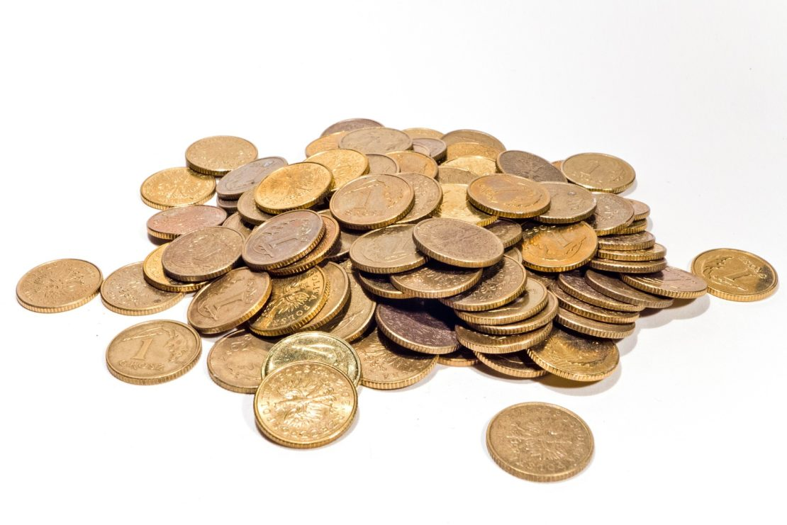 Желтые монетки