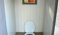 внутренняя отделка туалета на даче