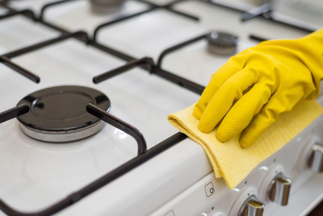 Как отмыть плиту от пригоревшего жира