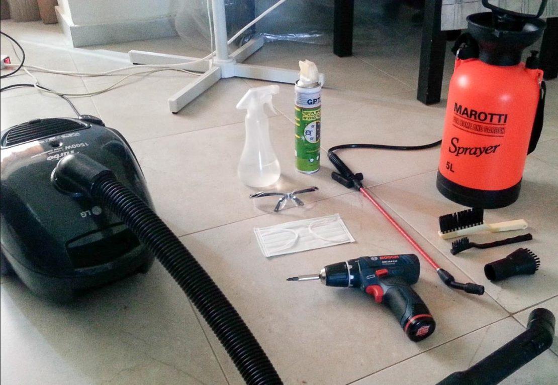 инструменты для чистки кондиционера