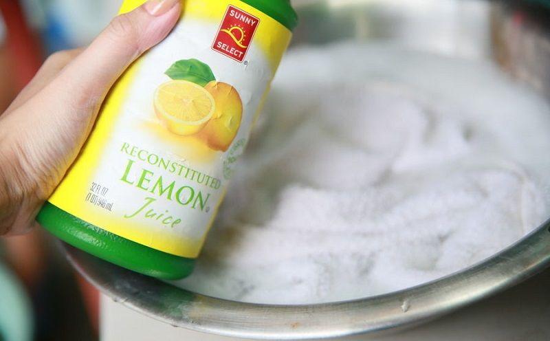отбеливаем тюль лимонной кислотой