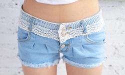 женские шорты с кружевами