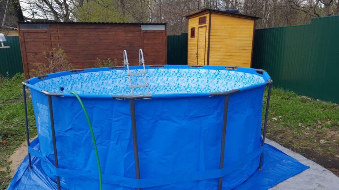 готовый каркасный бассейн