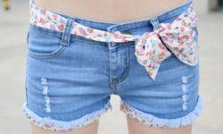 женские шорты из джинсов
