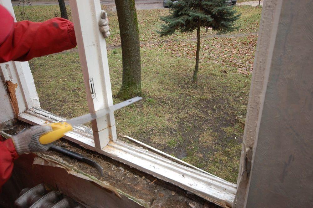 разборка старого окна