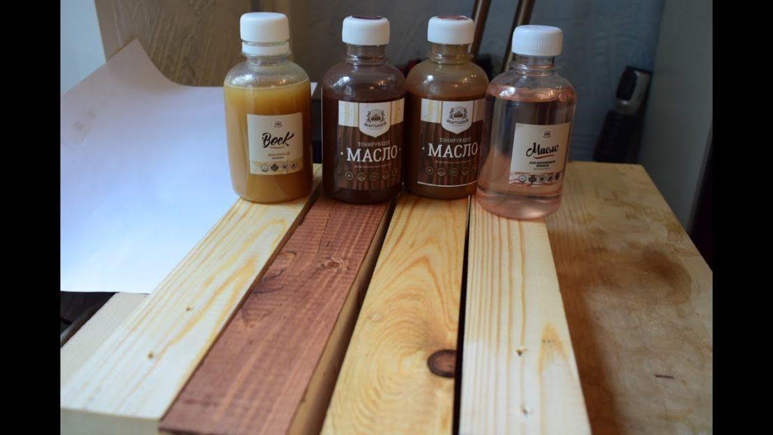 Масла для обработки древесины – виды и преимущества