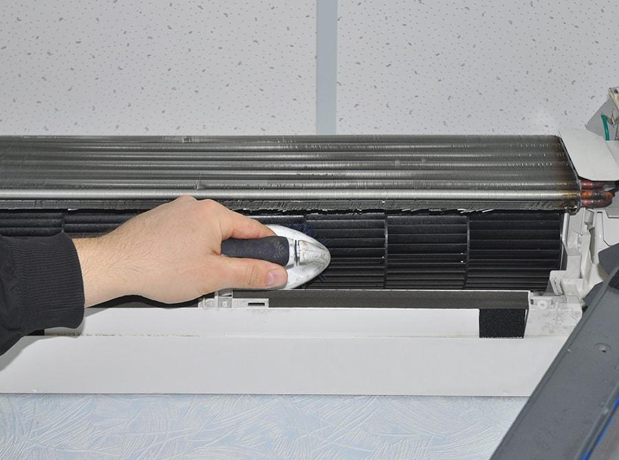Чистка внутреннего вентилятора