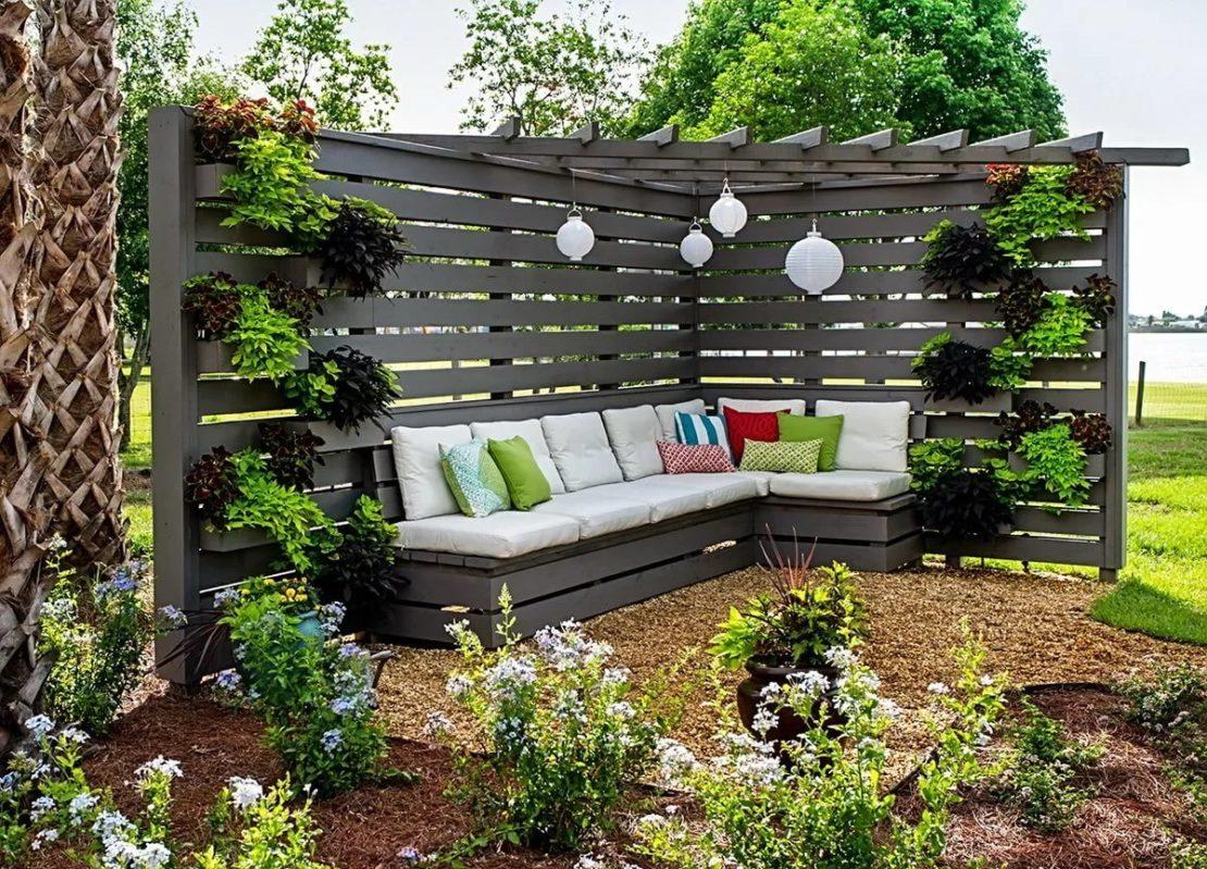 применение мебели в ландшафтном дизайне