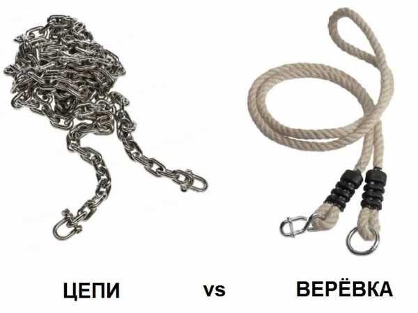 цепи или веревки для качели