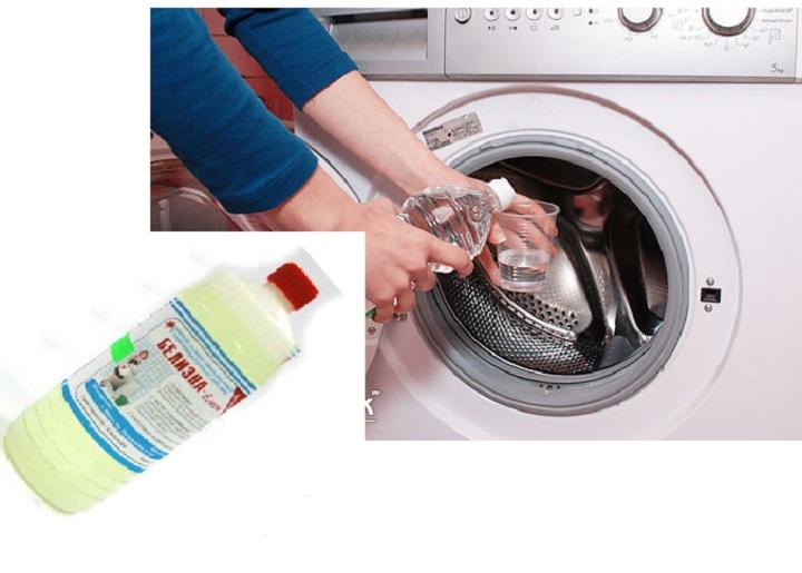 чистка стиралки отбеливателем