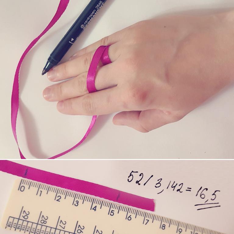как узнать размер кольца ниткой