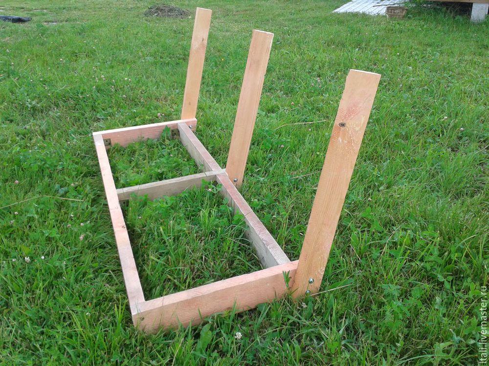 изготовление скамейки для качели