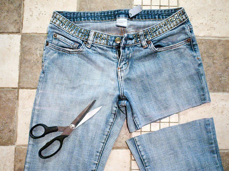 Правила обрезки джинсов