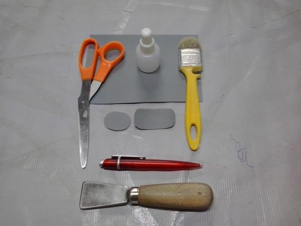 инструмент для ремонта надувного матраса