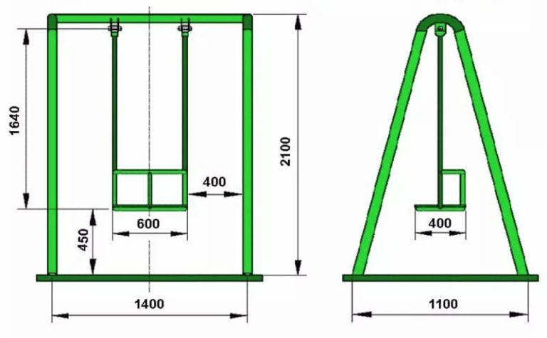 схема металлической качели 2