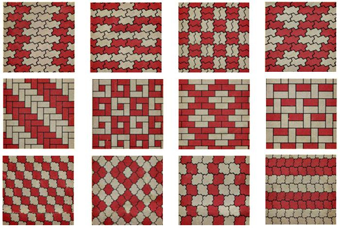 схема укладки тротуарной плитки 3