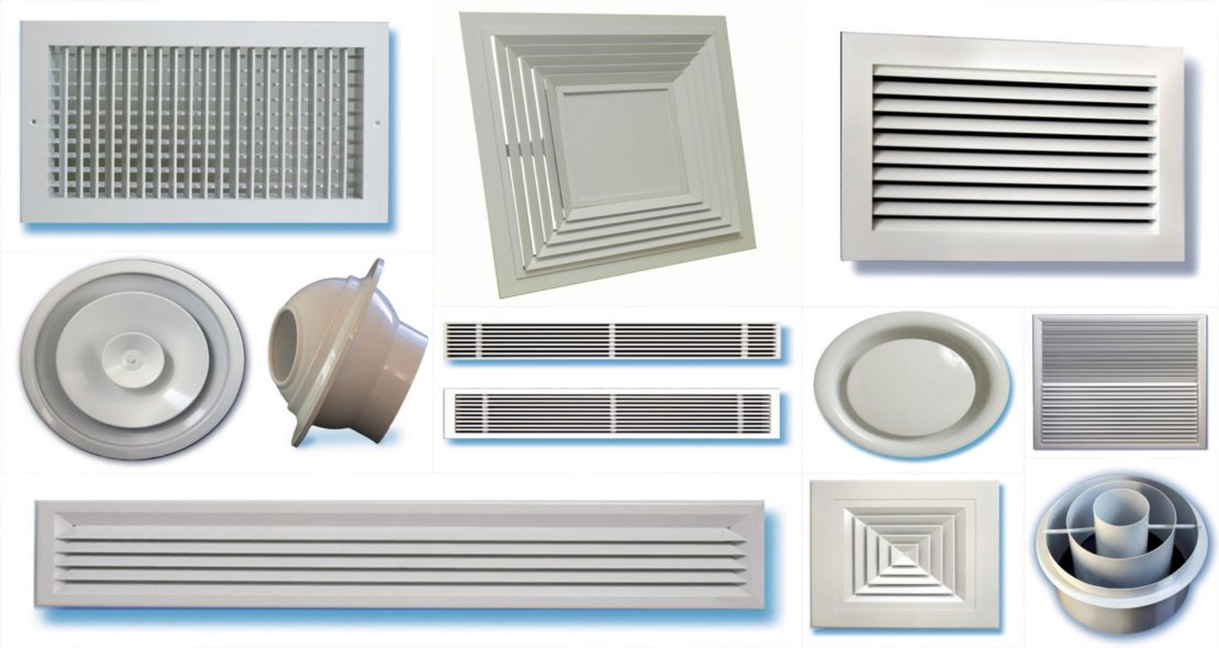 разновидности вентиляционных решеток