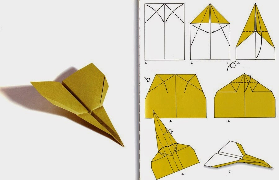 самолетик в технике оригами