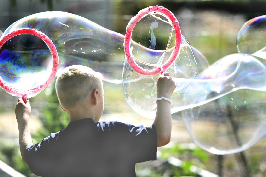 чем надувают пузыри