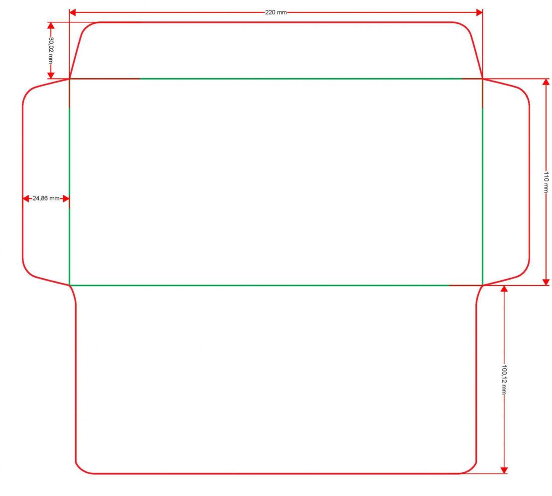 прямоугольный конверт
