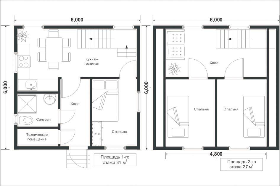 Проекты каркасных домов 4