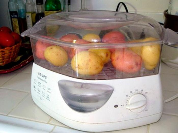 Как готовят картофель в пароварке