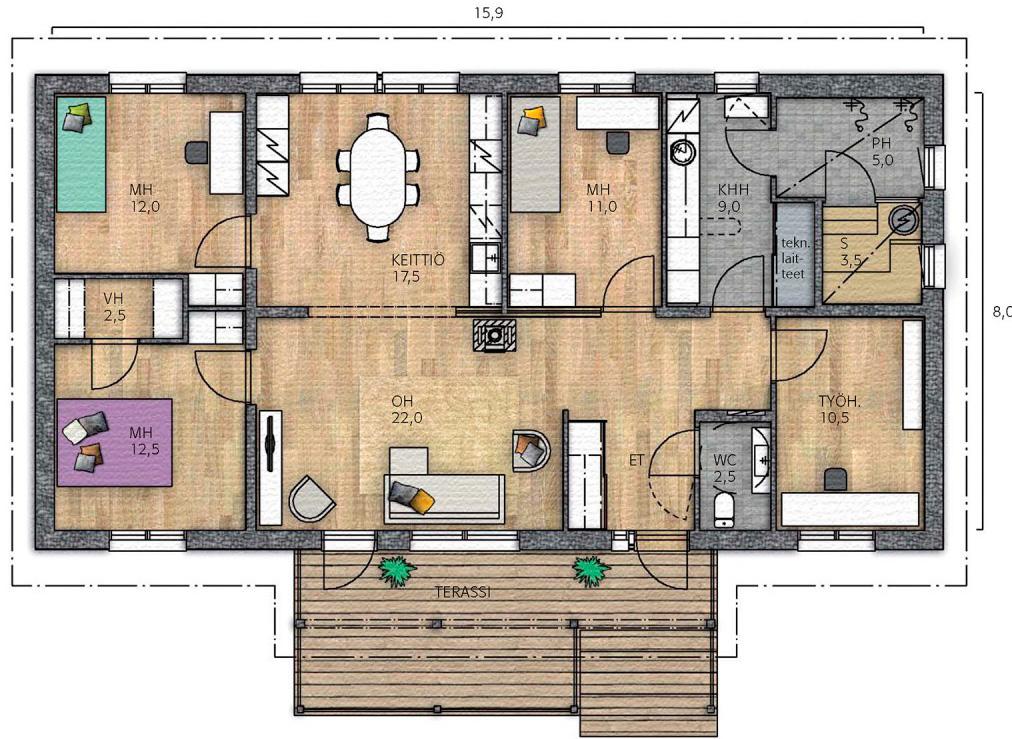 Проекты каркасных домов 3