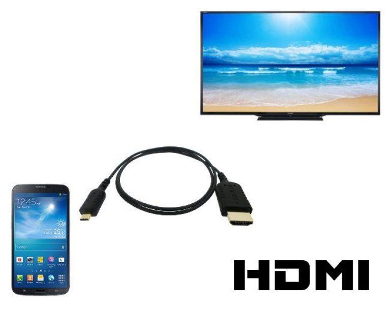 Как подключить телефон к ТВ через кабель HDMI