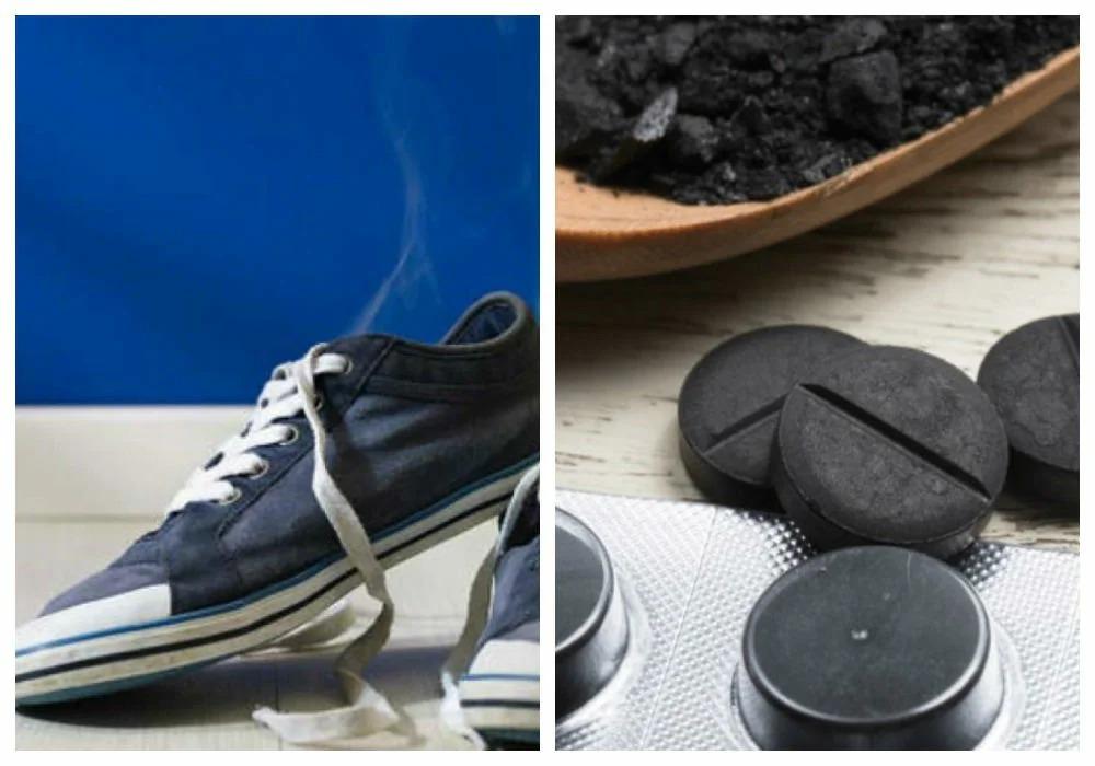 активированный уголь от запаха обуви