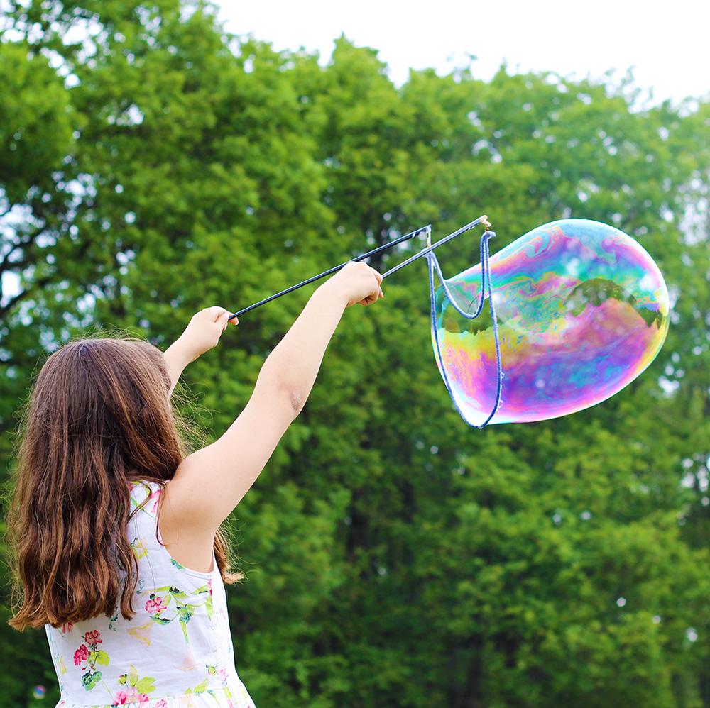 мыльные пузыри с шампунем