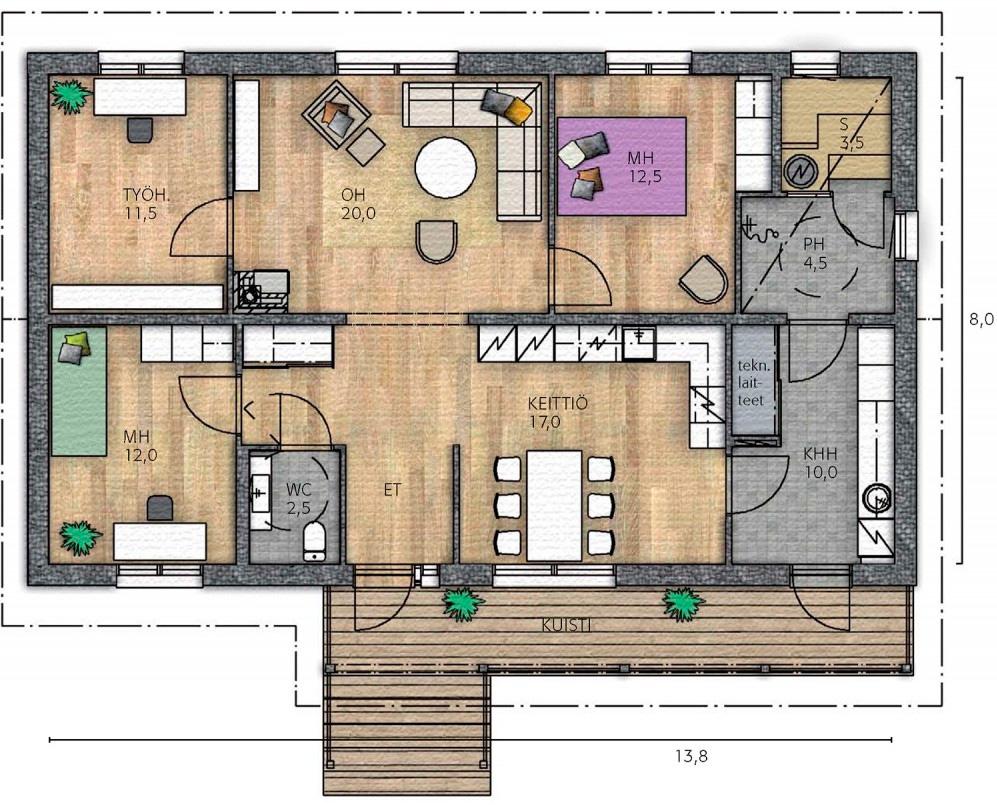 Проекты каркасных домов 1