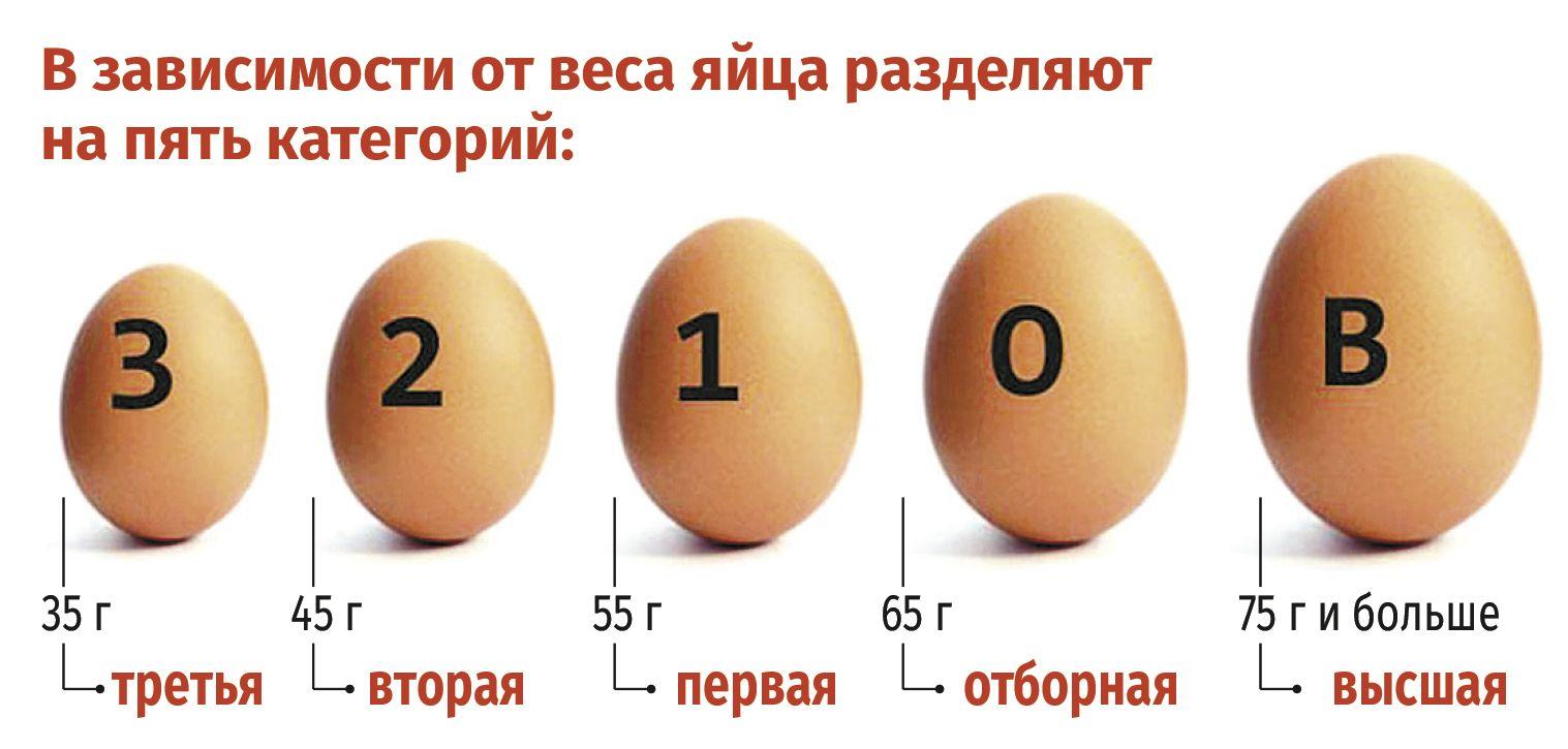 категория яиц по весу
