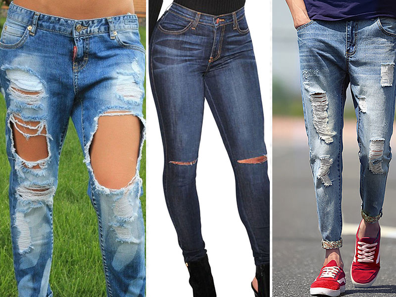 выбираем место для дырки на джинсах