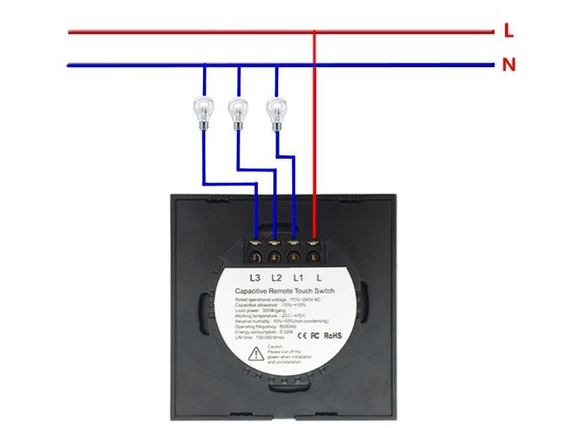 Подключение сенсорных выключателей