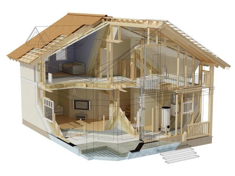 Основные этапы возведения каркасных домов