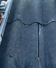 Ремонт трещин на шифере