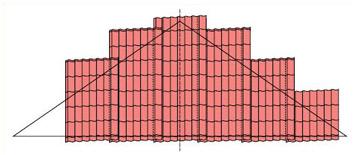 Укладка металлочерепицы на треугольных скатах