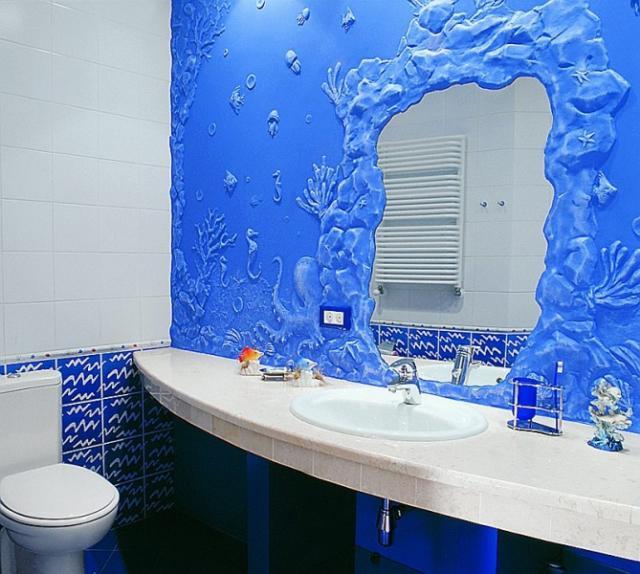 Как оформить ванную комнату фото своими руками
